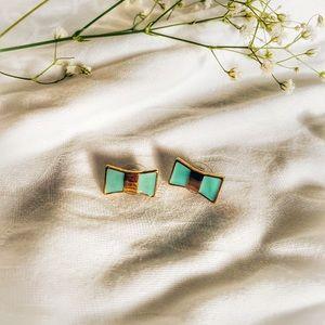 Kate Spade Tiffany Blue Bow Earrings